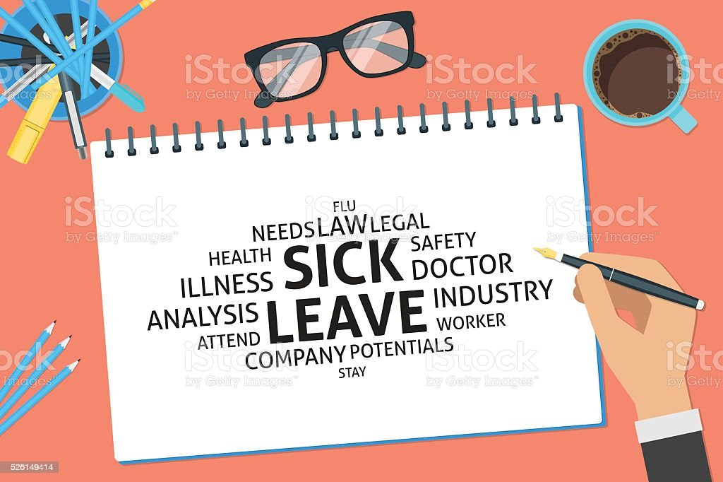 vector sick leave concept,template vector art illustration