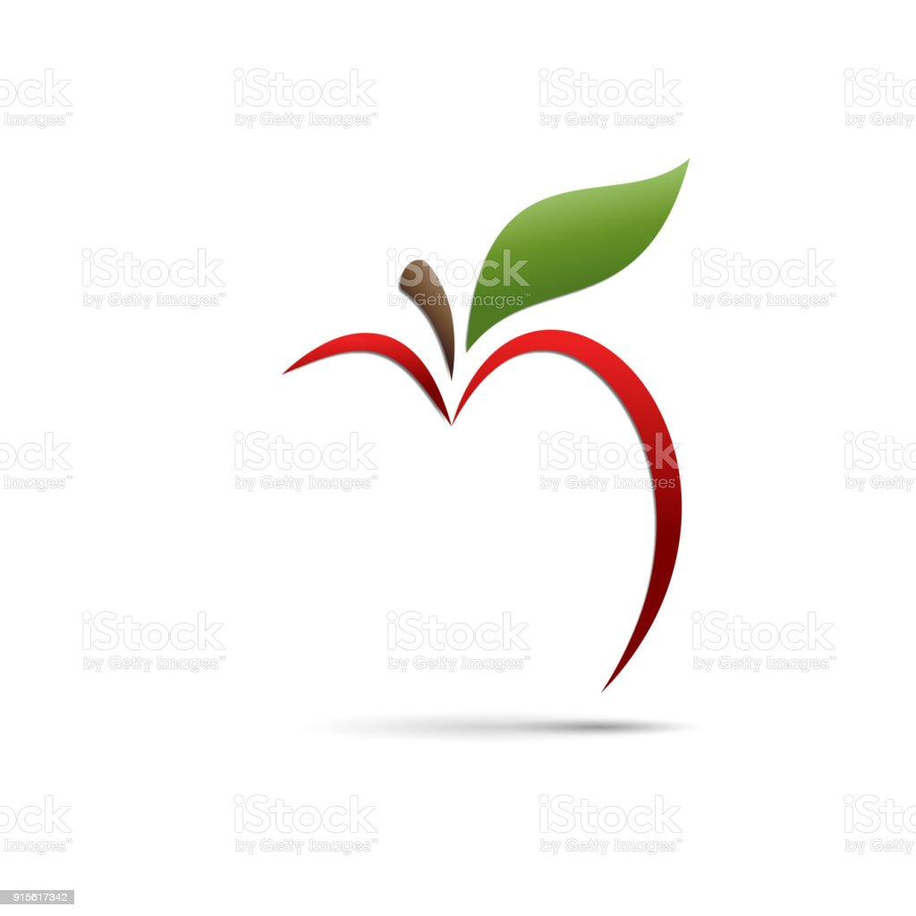 Vector signe abstrait apple - Illustration vectorielle