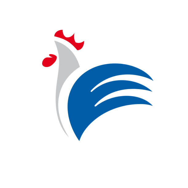 Vector sign abstract rooster, in linear style Vector sign abstract rooster, in linear style rooster stock illustrations