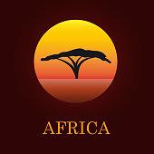 Vector sign African landscape