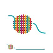 Vector sign ball of yarn
