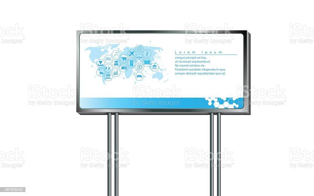 vector sign billboard design template for advertising marketing vector art illustration