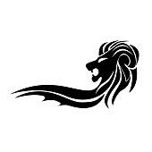Vector sign black lion