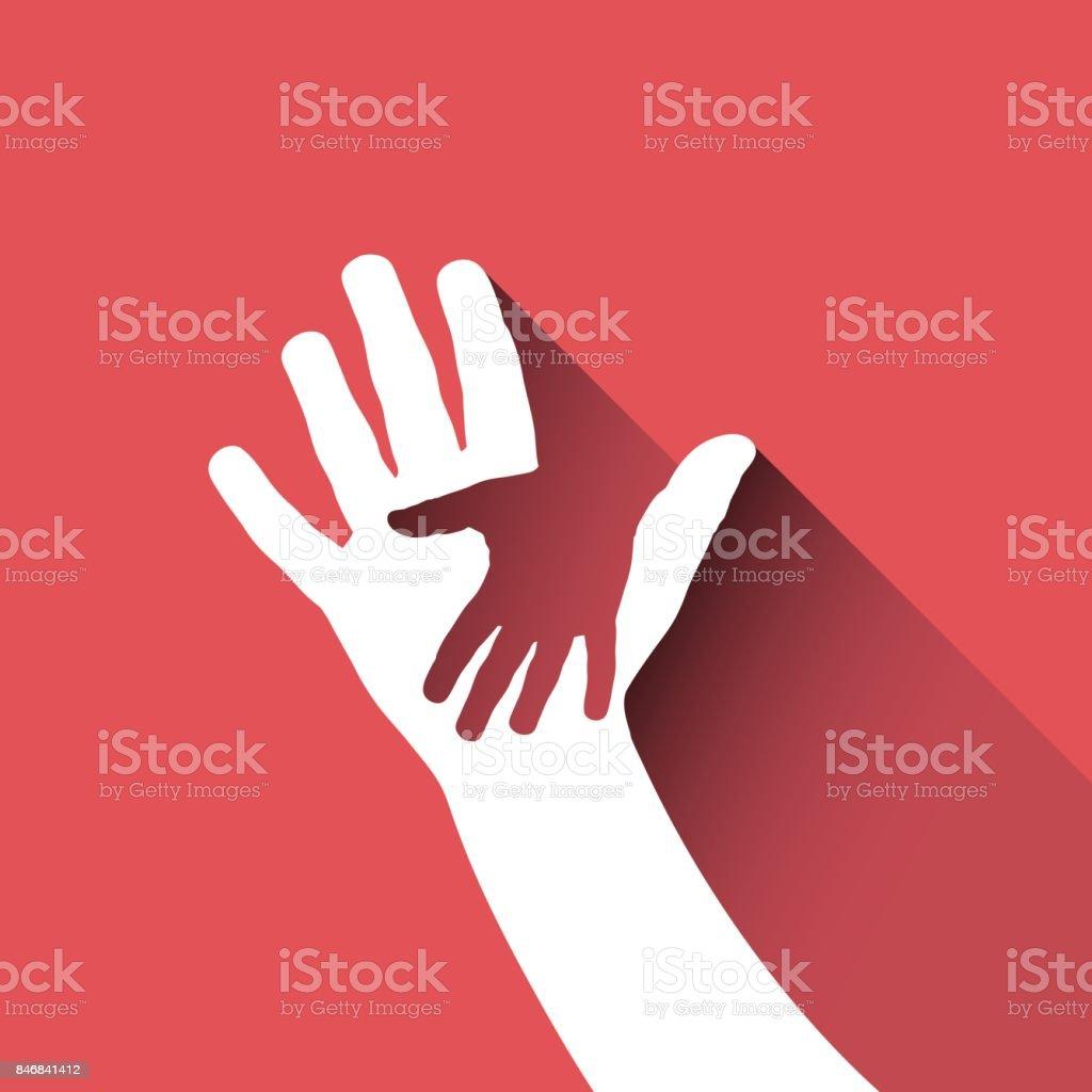 Vector signe enfants main - Illustration vectorielle