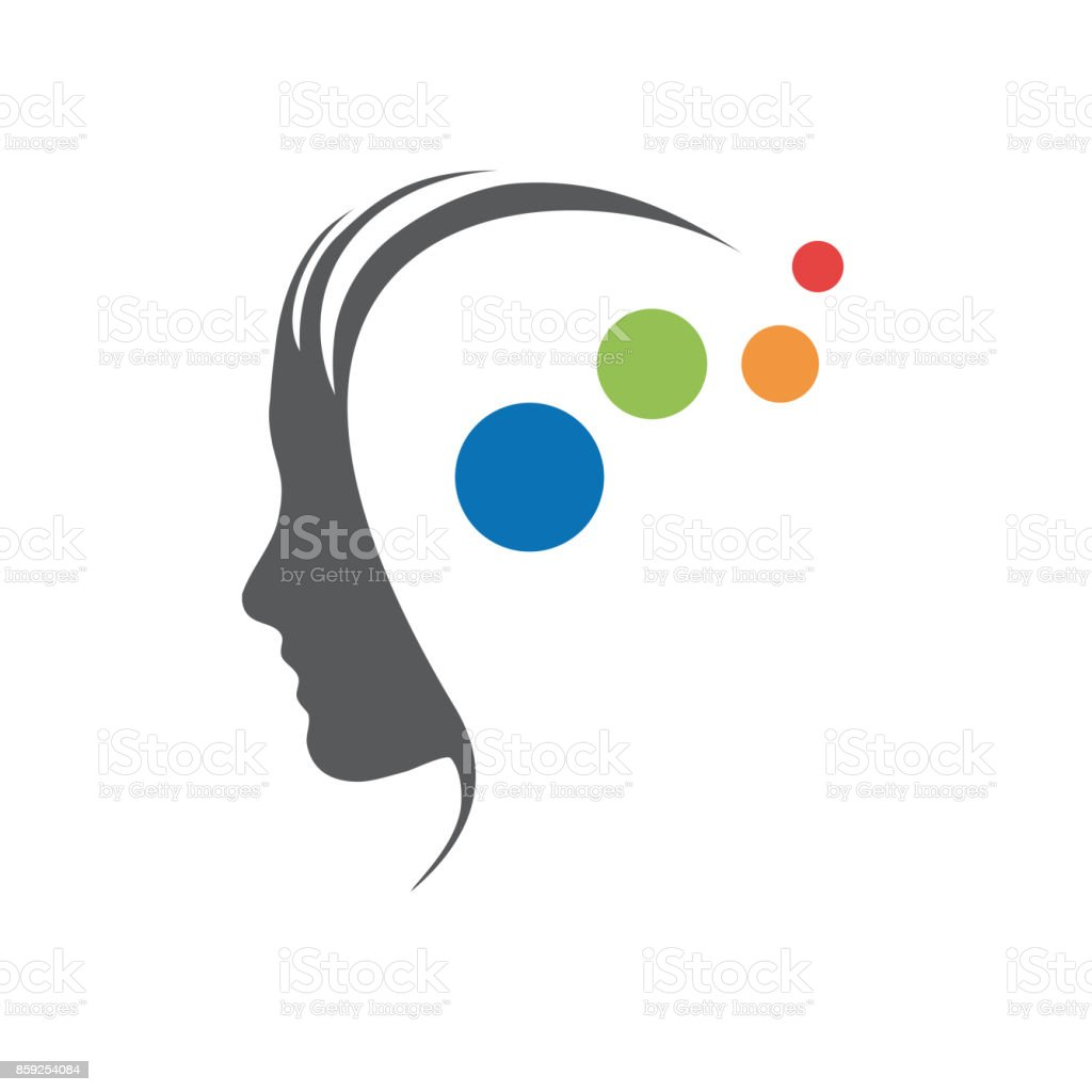 Vector sign concept of psychologist, analyst or scientist vector art illustration