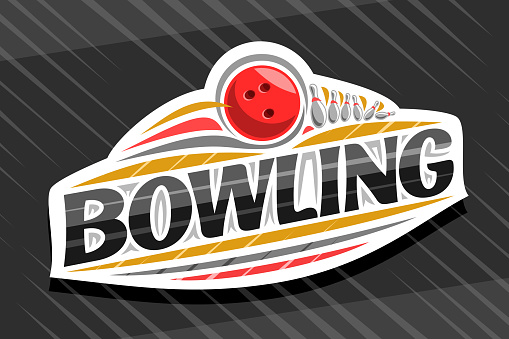 Vector sign for Bowling Sport
