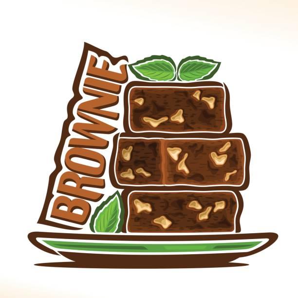 bildbanksillustrationer, clip art samt tecknat material och ikoner med vector tecken för brownie - brownie