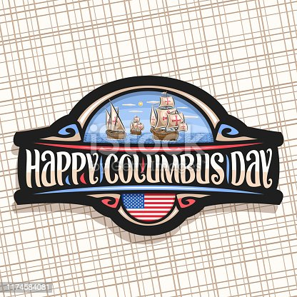istock Vector sign for Columbus Day 1174584081