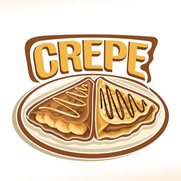 bildbanksillustrationer, clip art samt tecknat material och ikoner med vector tecken för fransk crepe - crepe