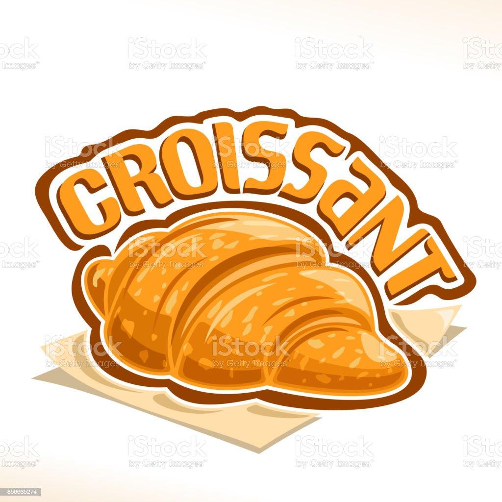 vector sign for french croissant stock vector art more images of rh istockphoto com Spaghetti Dinner Clip Art Umbrella Clip Art