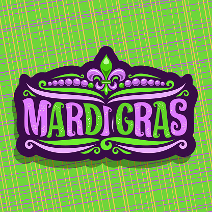 Vector sign for Mardi Gras Carnival