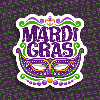 Vector sign for Mardi Gras