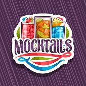 Vector sign for Mocktails
