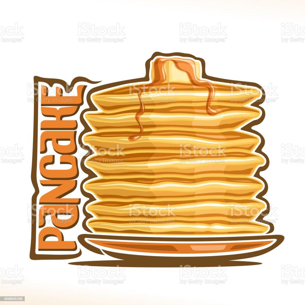 Vector sign for Pancake vector art illustration