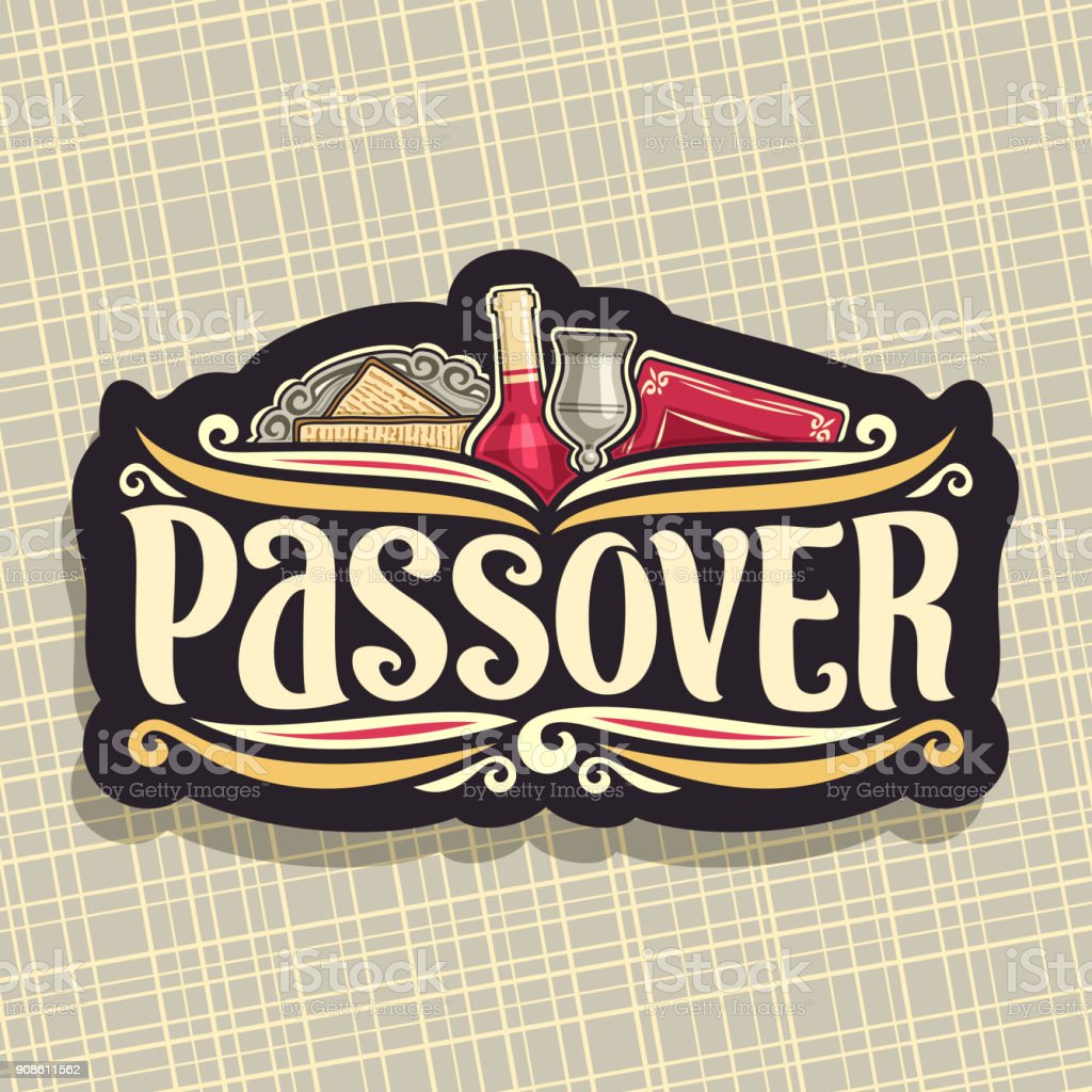Vector sign for Passover holiday vector art illustration