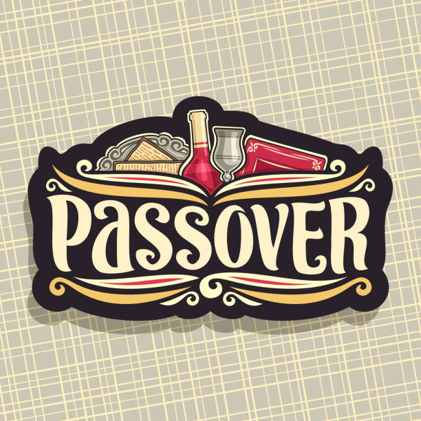 vector sign for passover holiday - passover stock illustrations, clip art, cartoons, & icons