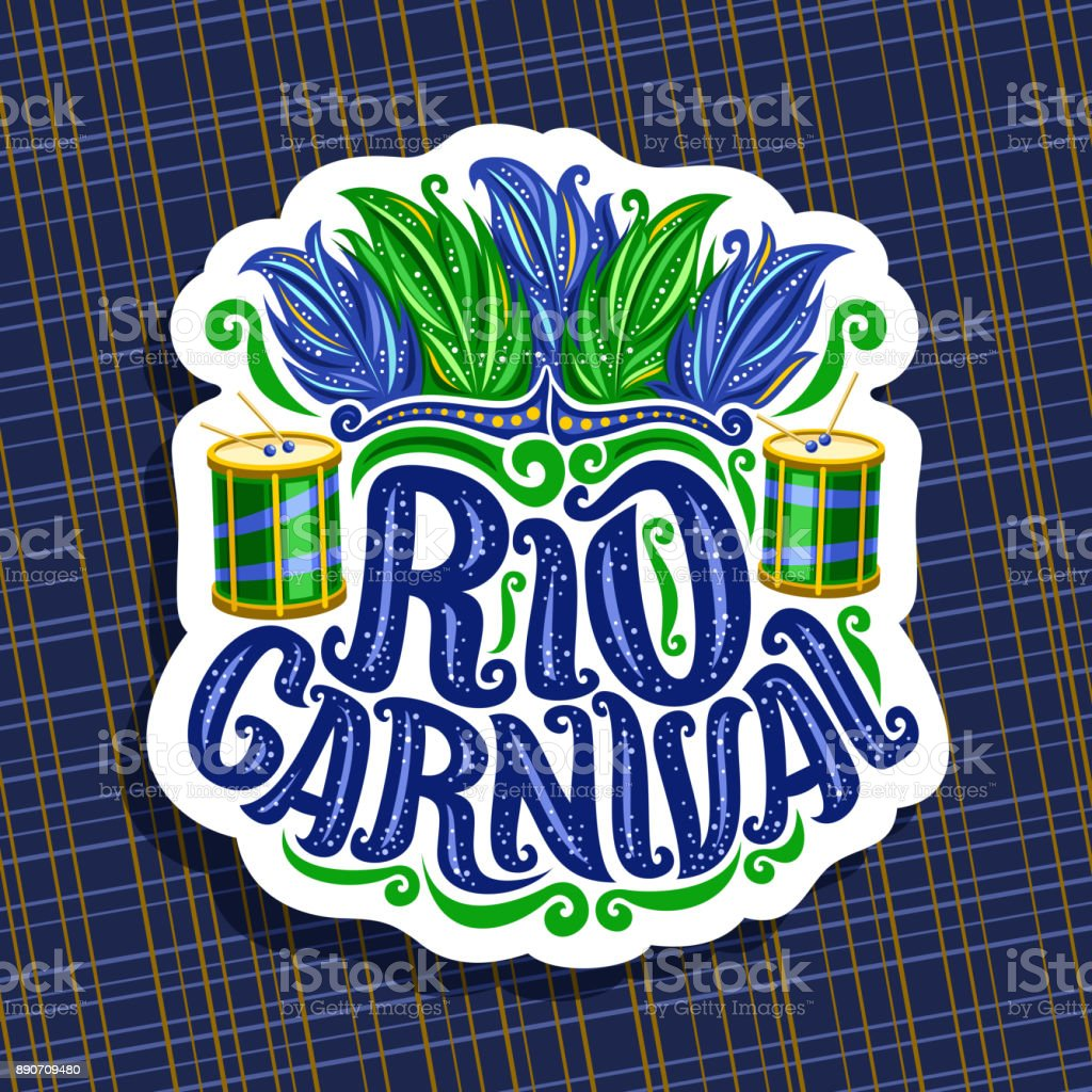 Vector sign for Rio Carnival vector art illustration