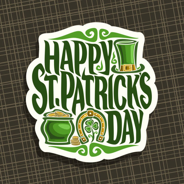 Vector sign for Saint Patricks Day vector art illustration