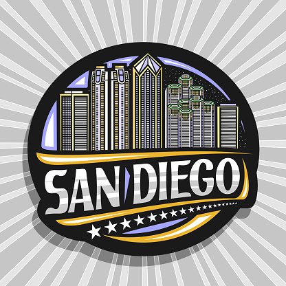 Vector sign for San Diego
