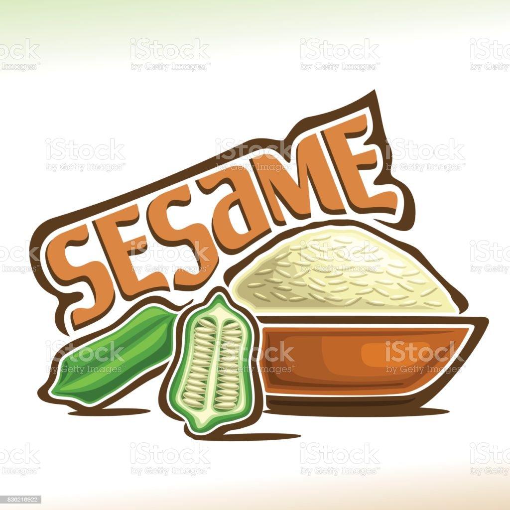 Vector sign for Sesame vector art illustration