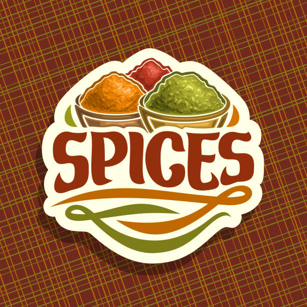 vector sign for spices - indian food stock illustrations, clip art, cartoons, & icons