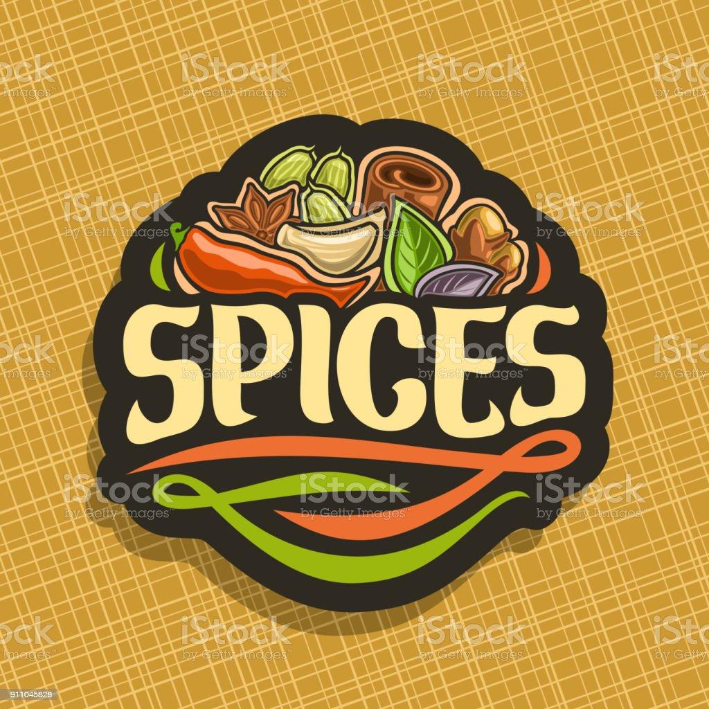 Signe de vecteur pour les épices - Illustration vectorielle