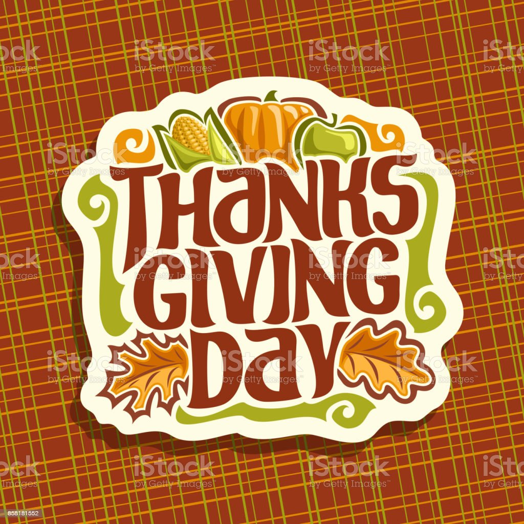 Vector sign for Thanksgiving day vector art illustration