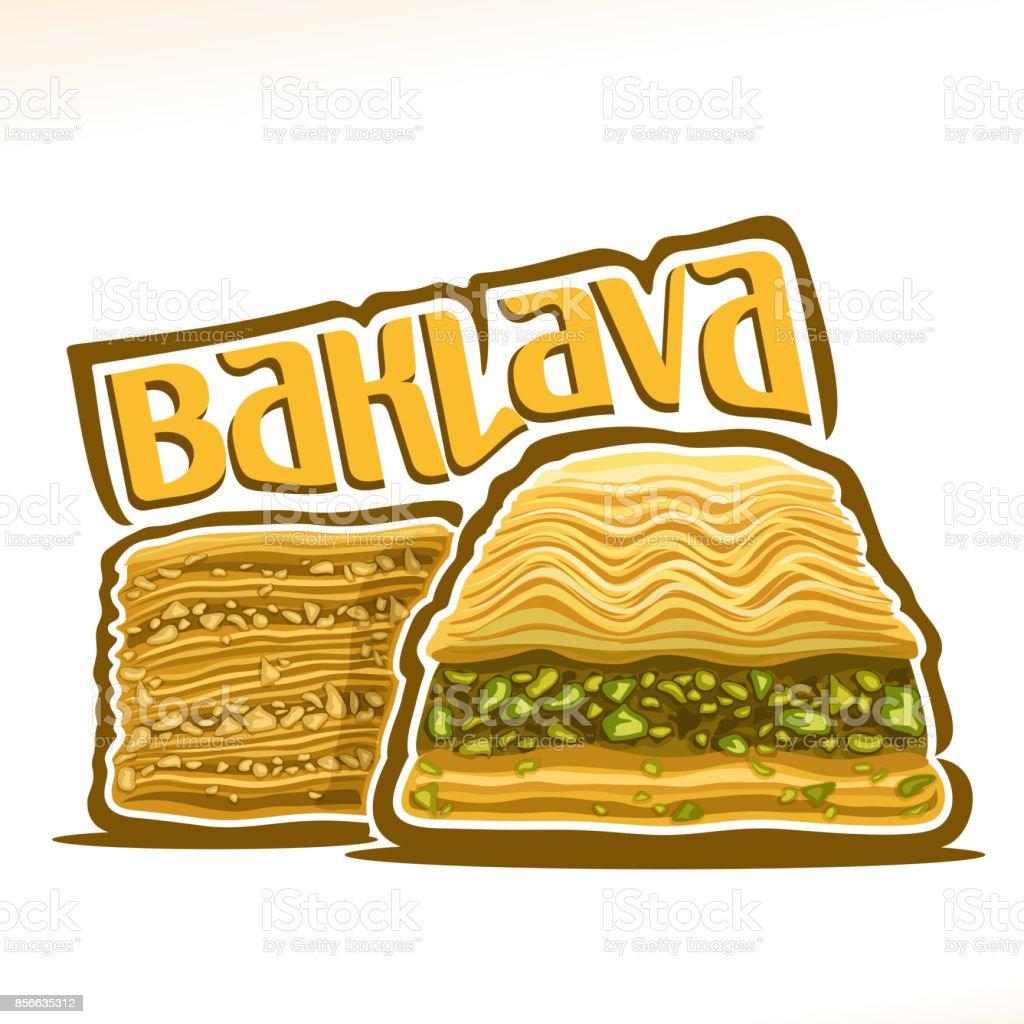Vector sign for turkish Baklava vector art illustration