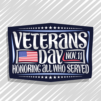 Vector sign for Veterans Day