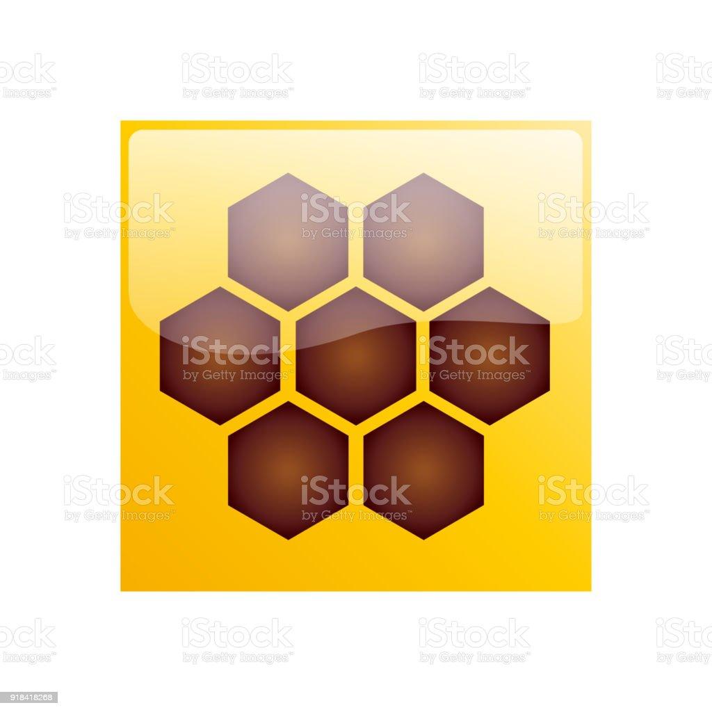 Vector sign hive & honey vector art illustration