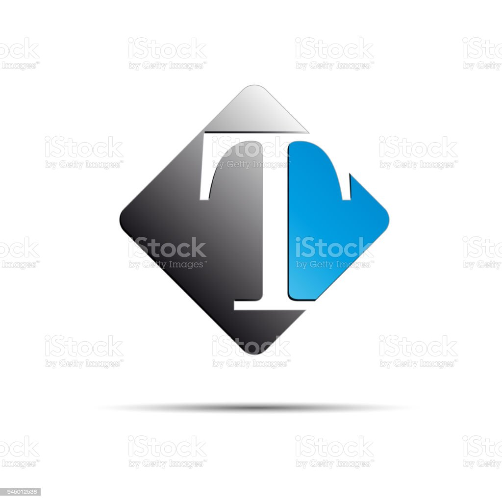 Vector Sign Initial Letter T On White Background Stock Vector Art