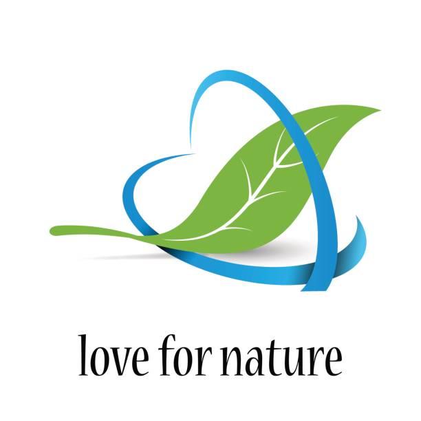 bildbanksillustrationer, clip art samt tecknat material och ikoner med vector tecken kärlek till naturen - recycling heart