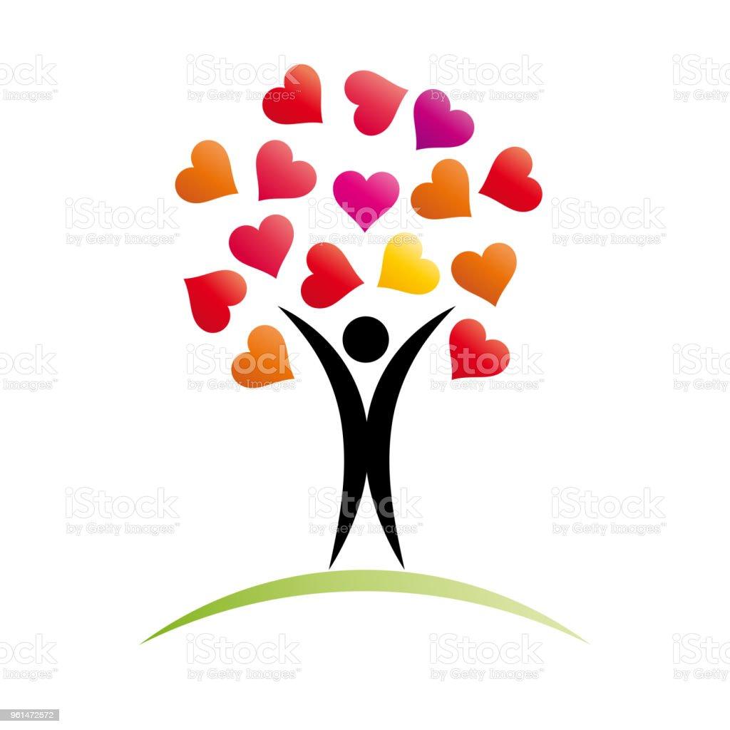 Vector sign Love Tree vector art illustration