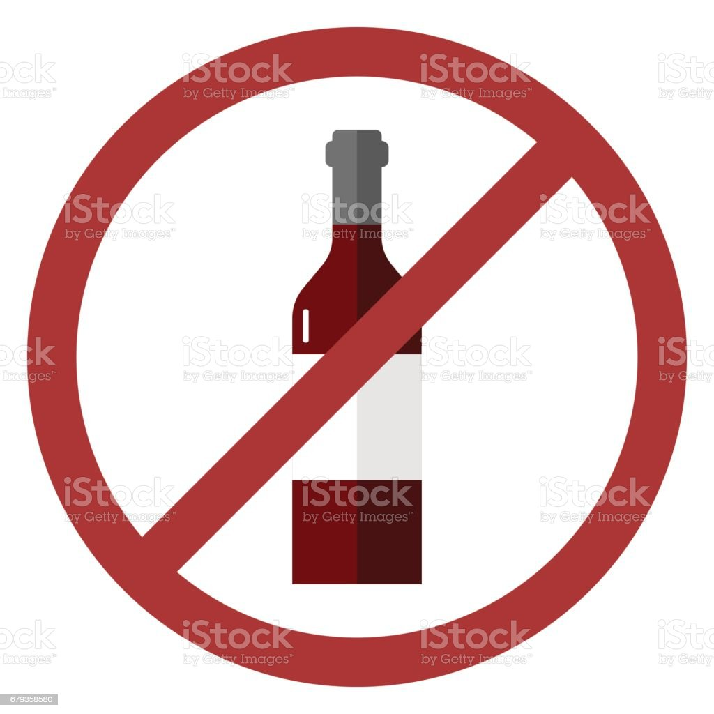 vector sign no alcohol vector art illustration