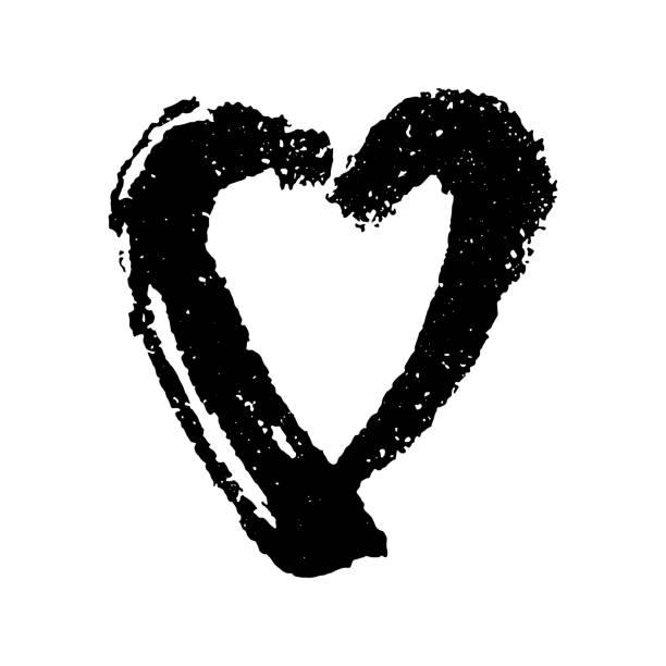 Herz Malvorlage Vektorgrafiken und Illustrationen - iStock