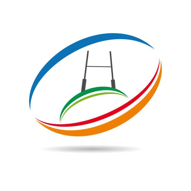 vektor-zeichen-rugby - rugby stock-grafiken, -clipart, -cartoons und -symbole