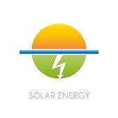 Vector sign Solar Energy