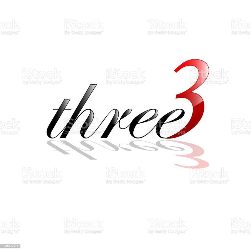 Vector Sign Three Number And Letter Stock Vector Art More Images