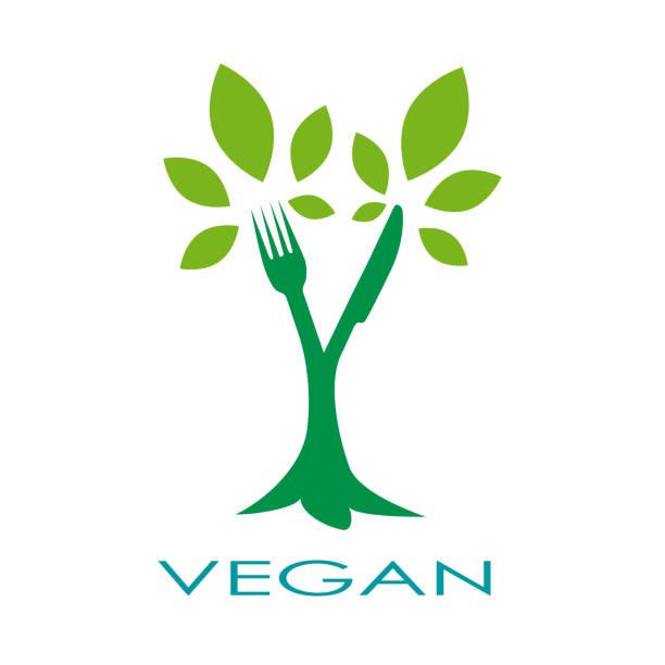Arbre de vecteur signe végétalien - Illustration vectorielle