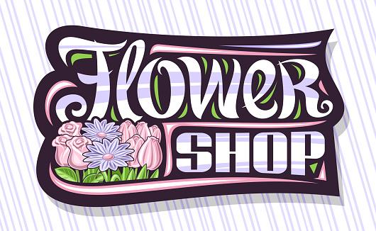 Vector signage for Flower Shop