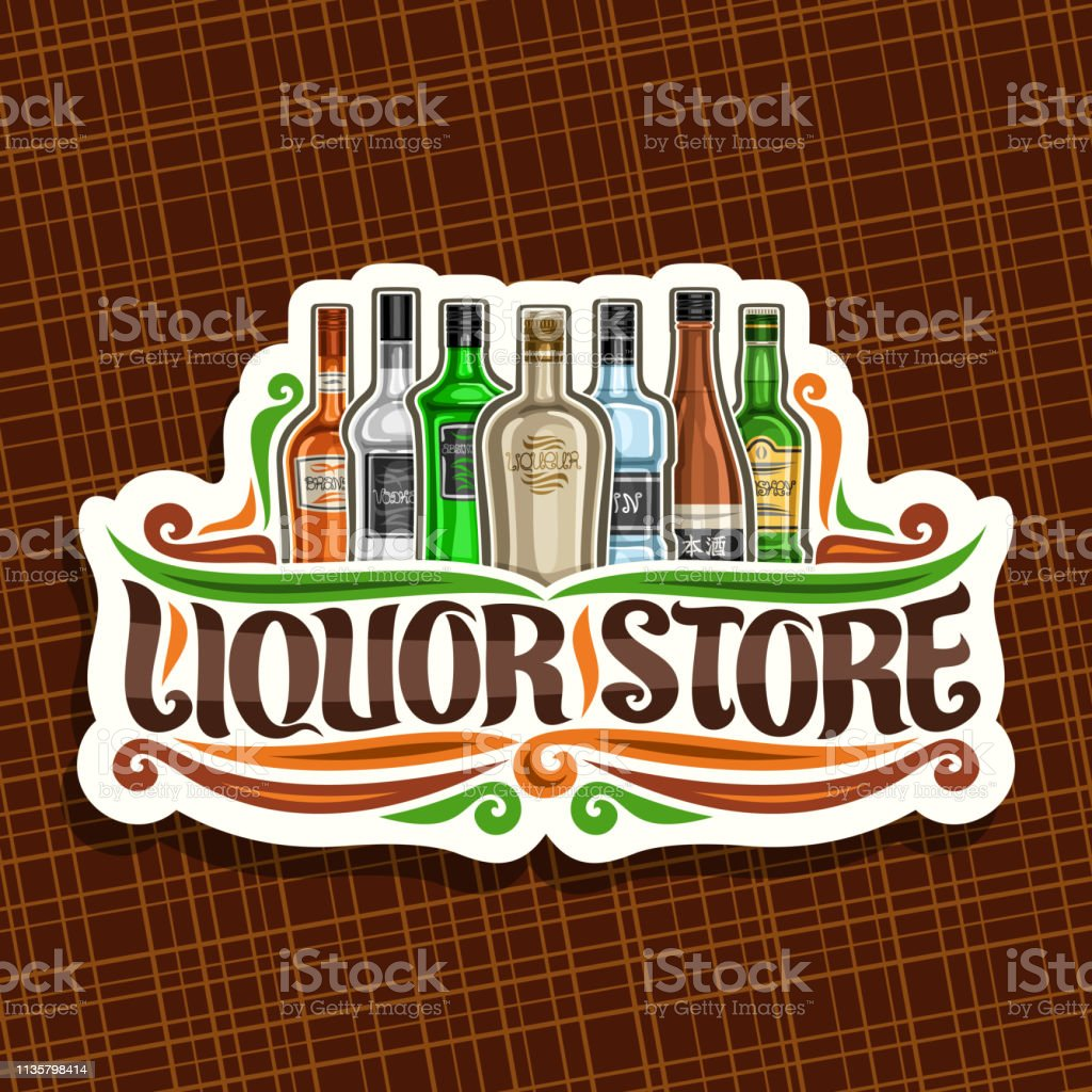 Vector Signage For Liquor Store Stock Illustration Download Image Now Istock