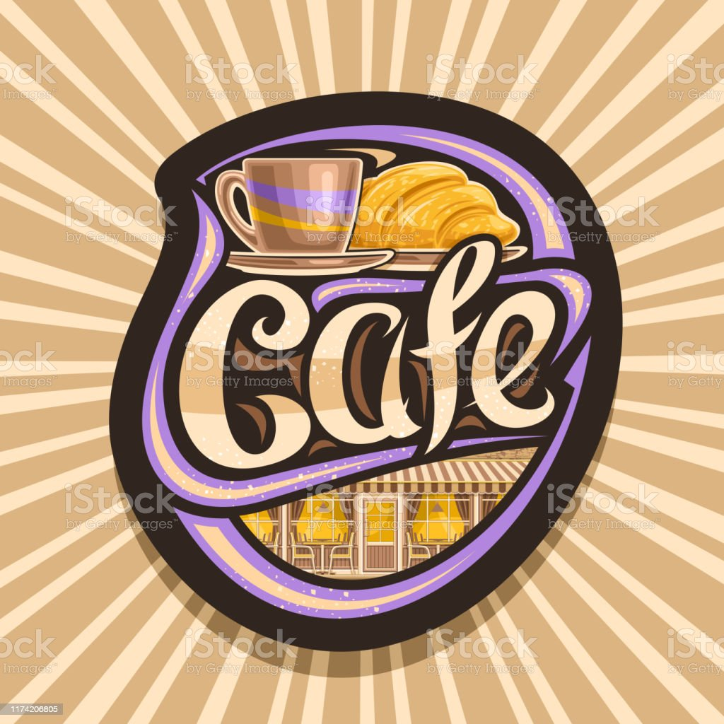 Vector Signage For Street Cafe Stock Illustration Download Image Now Istock