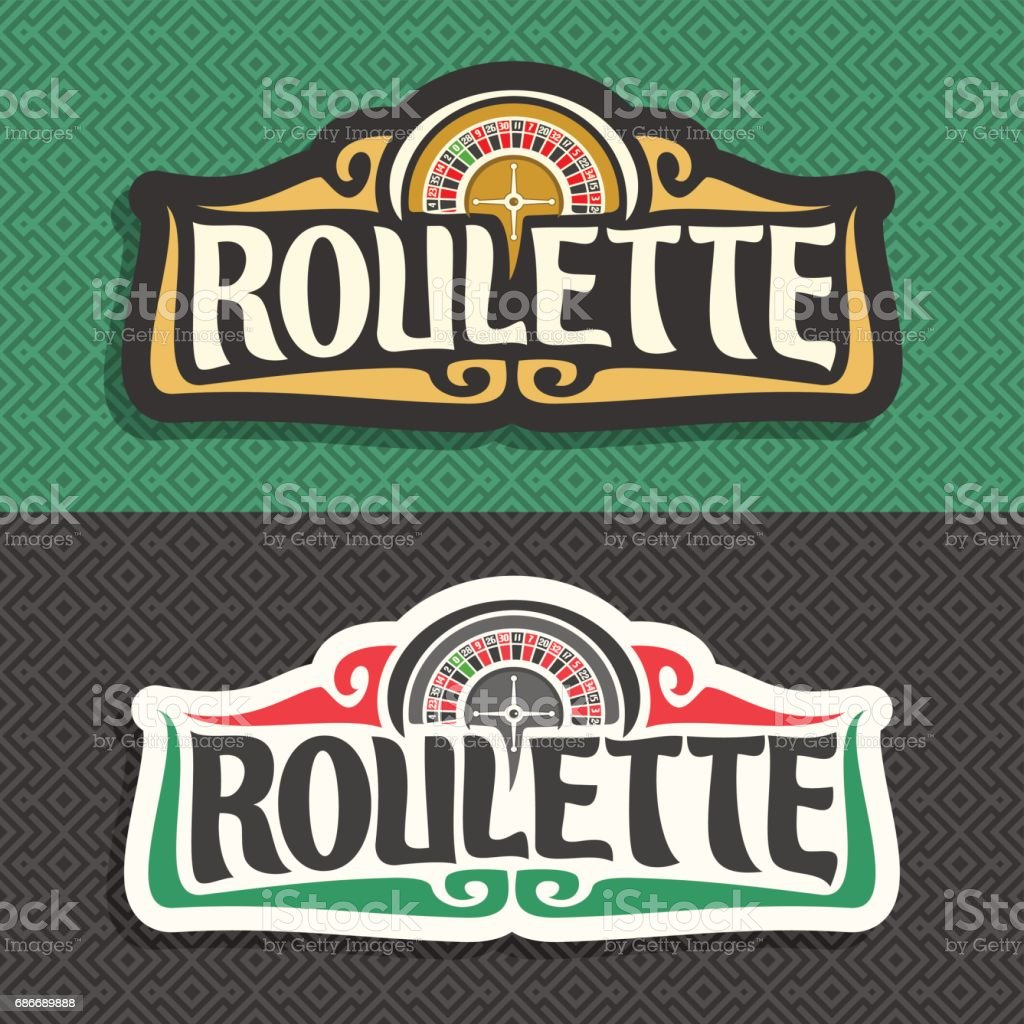 Vector signs for Roulette gamble vector art illustration
