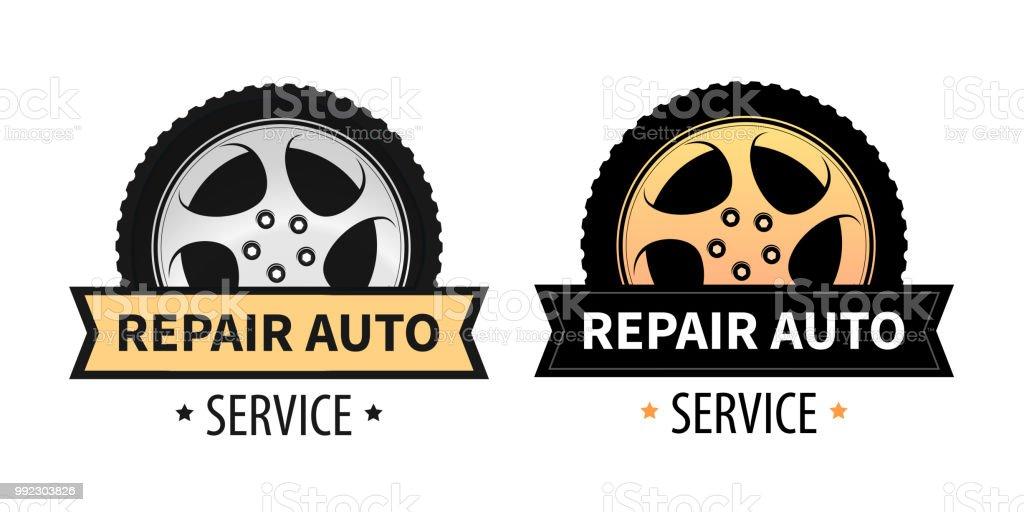 Signes De Vector Enseigne Banniere Et Le Logo De La Reparation Auto