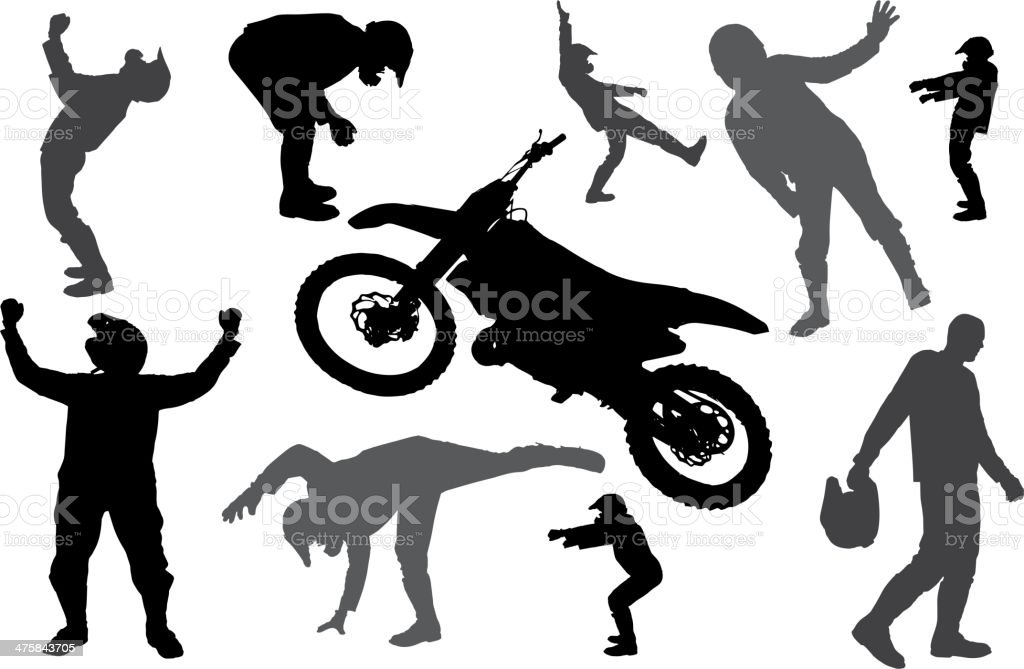 vector silhouette fmx royalty-free stock vector art