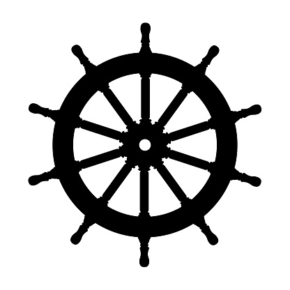 vector silhouette graphic Handwheel