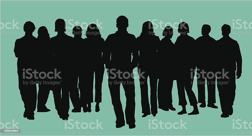 Vector silhouette image of a group of people royalty-free stock vector art