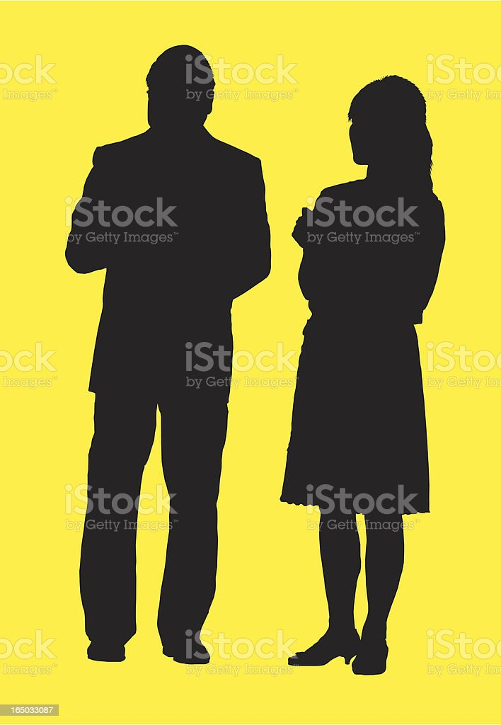 Vector Silhouette, Man and woman royalty-free vector silhouette man and woman stock vector art & more images of adult