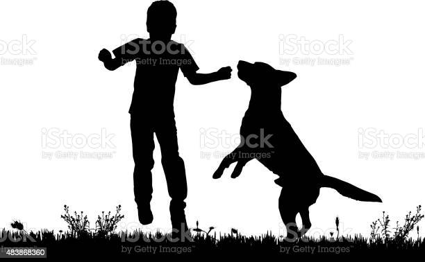 Vector silhouette of a boy with a dog vector id483868360?b=1&k=6&m=483868360&s=612x612&h=duir2jsceyclqtoq8jkqppy p7p3mn0wyhkimywtlio=