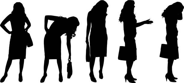 vektor-silhouette eines geschäftsfrau. - chefin stock-grafiken, -clipart, -cartoons und -symbole